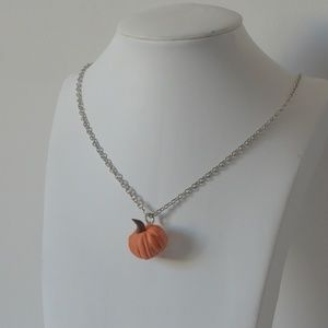Cute Pumpkin Charm Necklace